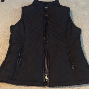 Black winter vest